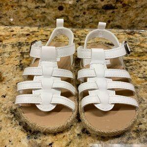 Carter's baby girl white sandals NMOT